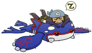 Kyogre Bed by roseannepage