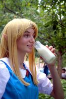 Link to the Past - Watching Link Drink by Midnight-Dare-Angel