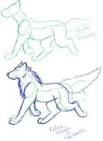 How i draw wolves by saucy-mo