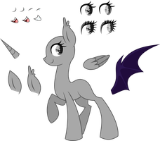 .-Pony Base-. Female Adoptable by SH0STAKOVlTCH