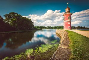 The lighthouse of Moritzburg by Torsten-Hufsky