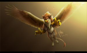 Request: Tobi the Gryphon. by PandiiVan