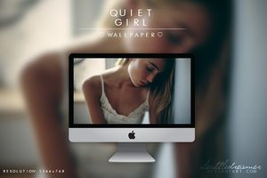 quiet girl wallpaper. by iLittleDreamer