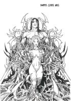 Darkness Witchblade inks by ddcobbs