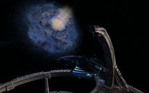 Docked at DS9 Enjoying The View by tj-hawk