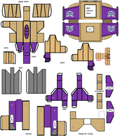 Blitzwing papercracft part 1 by transformersnewchapt