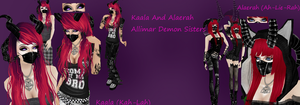 temp reff of Kaala and alaerah allimar demons by Allixi
