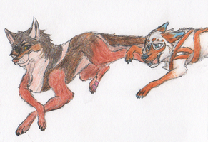 Kujo and Tripp :D by BenRusk
