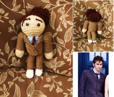 10th Doctor Knitted Plushie (Brown Suit) by verdant0angel