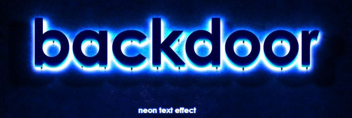 Backdoor Neon Text Effect by SucXceS