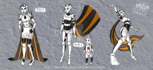 Humanoid Glados by HalianFromPlanetZork