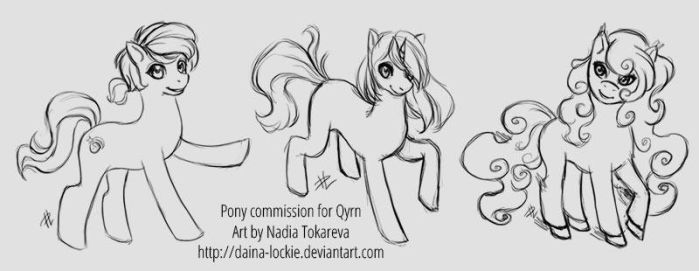 Pony sketches by Daina-Lockie
