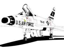 North American F-100 Super Sabre by bowdenja