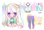 Paypal Chibi Adopt Ref 1 (SOLD) by mochatchi