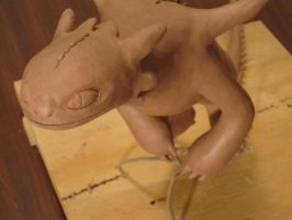 toothless WIP close up by MandaLea