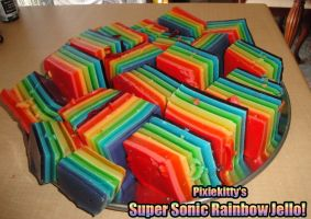 My Super Sonic Rainbow Jello by pixiekitty
