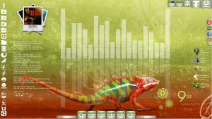 Chameleon Desktop for Rainmeter by ionstorm01