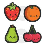 Cute Fruits by bethydesigns
