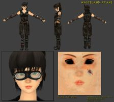 Wasteland Ayane by Deathbymodding
