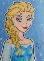 Queen Elsa ACEO card by LadyNin-Chan