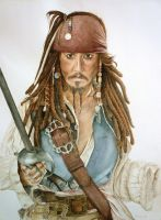 Captain Jack Sparrow by Nathalief87