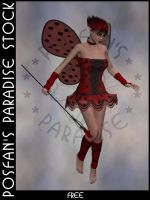 LadyBug Faerie 012 by poserfan-stock