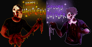 :Halloween: Dexter And Pungrotter by THEGR00M