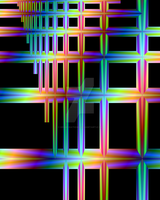 fractal neon lines by KRSdeviations