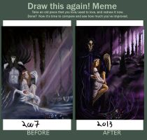 Draw this again Meme-Hades and Persephone by eitherangel