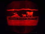 Oregon Trail Pumpkin by ceemdee