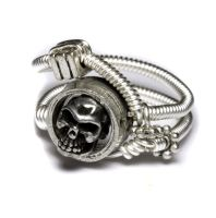 Steampunk Ring silver skull by CatherinetteRings
