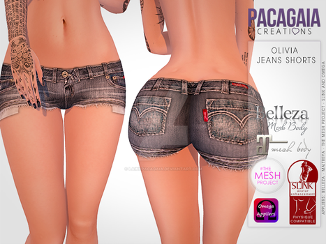 Olivia Jeans Shorts by LainePacagaia