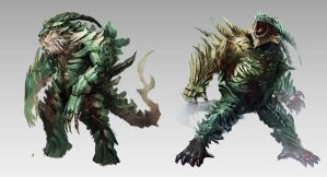 Swamp Creatures by orochi-spawn
