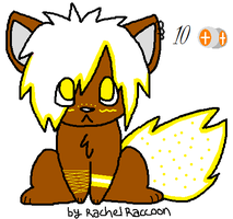 White n Yellow Wolf Pup Adopt by Newgrounds-People
