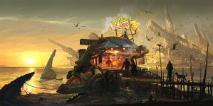 Turtle House seafood stall by sandara