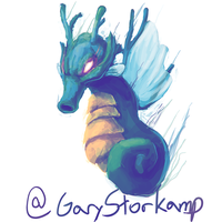 Kingdra - Johto PokeCollab by GaryStorkamp