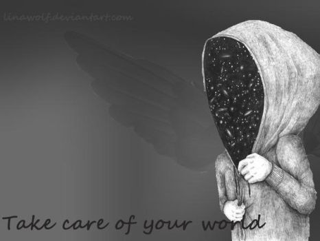 Take care of your world.(collage) by LinaWolf