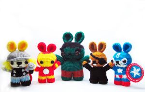 the bunnyvengers by SNCxCreations