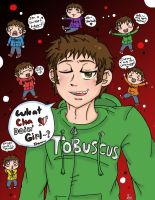 Tobuscus and chibis COLORED by Sasuka6789