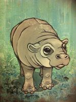 Hippo Calf by ash-lethal