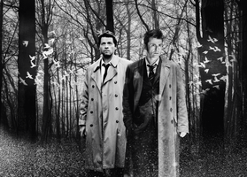 The Doctor and Castiel by annaminerva