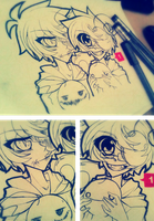 [WIP] Outlines: New Ask Crycest Icon by Nadi-Chan