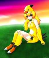 Angry Birds yellow bird girl 2 by Neon-Juma