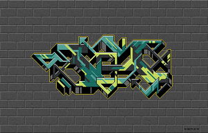 Pixel Graffiti 02 by pieceoftoast