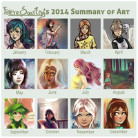 My 2014 Summary of Art by ForeverSoaring