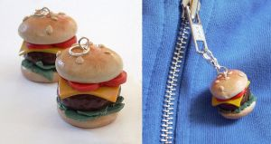 Polymer Burger Charms by InvisibleSnow