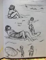 Beach Sketching by Methuselah87