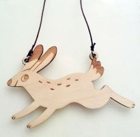 Laser cut rabbit by heikala