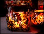 Auburn Fairy Candle Holder by Bonniemarie