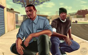GTA San Andreas FanArt (in V-style arts) FULL! by Cemetpuu
